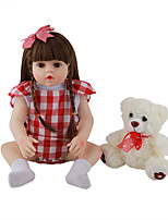 cheap -FeelWind 18 inch Reborn Doll Baby & Toddler Toy Reborn Toddler Doll Baby Girl Gift Cute Lovely Parent-Child Interaction Tipped and Sealed Nails Full Body Silicone LV084 with Clothes and Accessories