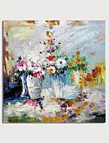 Недорогие -ручная роспись холст масляные краски абстрактные цветы ножом украшения дома с рамкой картины готовы повесить