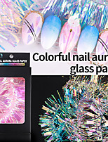 cheap -1 pcs Crystal / Color Gradient / Creative Plastics Sequins For Finger Nail Creative nail art Manicure Pedicure Daily / Festival Trendy / Rock