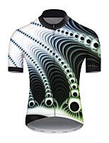 cheap -21Grams Men's Short Sleeve Cycling Jersey Nylon Polyester Black / White Polka Dot 3D Gradient Bike Jersey Top Mountain Bike MTB Road Bike Cycling Breathable Quick Dry Ultraviolet Resistant Sports
