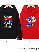 cheap -Kids Boys' Active Basic Rainbow Long Sleeve Hoodie & Sweatshirt Black