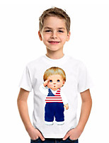 cheap -Kids Boys' Basic Geometric Short Sleeve Tee White