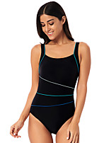 cheap -Women's Cut Out One Piece Swimsuit Padded Swimwear Bodysuit Swimwear Black Breathable Quick Dry Comfortable Sleeveless - Swimming Surfing Water Sports Summer / Nylon / Elastane / Stretchy