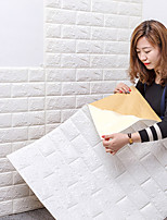 cheap -3D Brick Wall Stickers Living Waterproof Foam Room Bedroom DIY Adhesive Wallpaper Art home Wall Decals