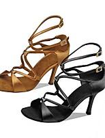cheap -Women's Dance Shoes Latin Shoes Heel Cuban Heel Black / Brown / Performance