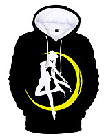 cheap -Inspired by Sailor Moon Cosplay Costume Hoodie Poly / Cotton Print Printing Hoodie For Men's / Women's