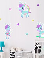 cheap -Unicorn Decorative Wall Stickers Heart Nursery Kids Room