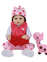 cheap -FeelWind 18 inch Reborn Doll Baby & Toddler Toy Reborn Toddler Doll Baby Girl Gift Cute Lovely Parent-Child Interaction Tipped and Sealed Nails Full Body Silicone LV024 with Clothes and Accessories