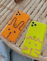 cheap -Case For Apple iPhone 11 / iPhone 11 Pro / iPhone 11 Pro Max Translucent / Pattern Back Cover Animal / Cartoon TPU