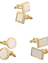 cheap -Cufflinks Fashion Brooch Jewelry Golden Silver Gray For Gift Daily