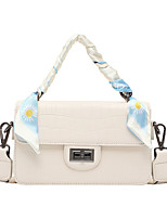 cheap -Women's Sashes / Ribbons PU Leather Top Handle Bag Leather Bags Crocodile White / Black / Purple