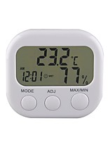 cheap -New Digital Thermometer Humidity Meter HYGRO Hygrometer Air Clock TA638 White