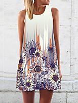 cheap -Women's Shift Dress Midi Dress - Sleeveless Floral Summer Casual 2020 Purple S M L XL XXL XXXL