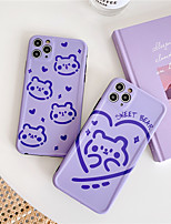 cheap -INS Korea cute cartoon biscuit love bear phone case for iPhone 11 pro MAX Xs MAX Xr X se 2020 7 8 plus net red soft TPU back cover