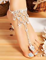 cheap -Anklet Sweet Women's Body Jewelry For Holiday Beach Hollow Out Imitation Diamond Alloy Silver 1 Piece