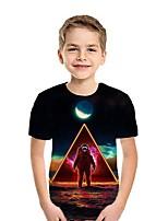 cheap -Kids Boys' Street chic 3D Short Sleeve Tee Black