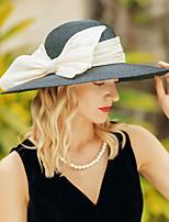 cheap -Headwear Elegant Natural Fiber / Flax Hats with Bowknot 1pc Casual / Daily Wear Headpiece