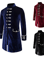 cheap -Plague Doctor Vintage Gothic Steampunk Masquerade Tuxedo Men's Costume Black / Red / Navy Blue Vintage Cosplay Event / Party Long Sleeve / Coat