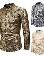 cheap -Plague Doctor Vintage Medieval Renaissance Blouse / Shirt Masquerade Men's Jacquard Costume Golden / White / Silver Vintage Cosplay Event / Party Long Sleeve