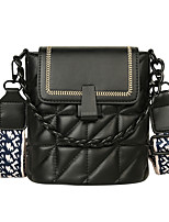 cheap -Women's Chain PU Top Handle Bag Leather Bags Solid Color White / Black / Green / Fall & Winter