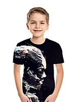 cheap -Kids Boys' Street chic Color Block Short Sleeve Tee Black