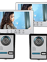cheap -Wired 7 Inch Wire Video Doorphone Two to Two Video Intercom with Unlock Function