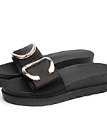 cheap -Women's Slippers & Flip-Flops Summer Wedge Heel Open Toe Daily Outdoor Buckle Synthetics Black / Green