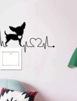cheap -Animals Switch Wall Stickers Animal Wall Stickers Decorative Wall Stickers PVC Home Decoration Wall Decal Wall / Switch Decoration 1pc