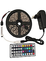 cheap -5m Light Sets RGB Strip Lights 150 LEDs 5050 SMD 10mm 1 44Keys Remote Controller 1 x 2A power adapter 1 set RGB Cuttable Decorative Self-adhesive 12 V 110-240 V