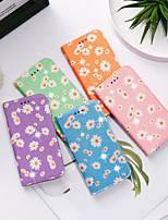 cheap -Case For Samsung Galaxy Galaxy S10 / Galaxy S10 Plus / Galaxy S10 E Wallet / Card Holder / with Stand Full Body Cases Glitter Shine / Flower PU Leather