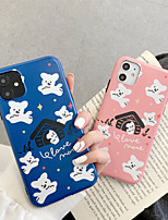 cheap -Frosted IMD Lovers Cartoon TPU for Apple iPhone Case 11 Pro Max X XR XS Max 8 Plus 7 Plus SE(2020) Protection Cover