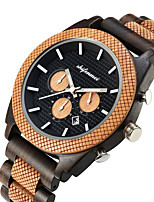 cheap -Men's Sport Watch Quartz Vintage Style Wood Wooden Analog Fashion Cool - Brown Coffee