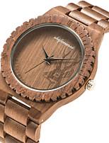 cheap -Men's Sport Watch Quartz Wood Brown Wooden Analog Fashion Wood - Brown