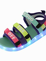 cheap -Girls' LED Shoes PVC Sandals Little Kids(4-7ys) Black / Blue Summer