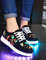 cheap -Men's / Unisex Summer / Fall Casual / Preppy Daily Sneakers Walking Shoes Canvas / PU Black