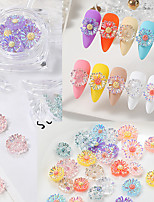 cheap -1 pcs Creative / Light and Convenient Crystal Nail Jewelry For Finger Nail Daisy nail art Manicure Pedicure Party / Evening / Festival Romantic / Sweet