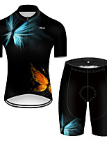 cheap -21Grams Men's Short Sleeve Cycling Jersey with Shorts Nylon Polyester Red+Blue Butterfly Gradient Bike Clothing Suit Breathable 3D Pad Quick Dry Ultraviolet Resistant Reflective Strips Sports Solid