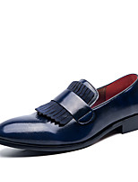 cheap -Men's Summer / Fall Business / Classic Daily Office & Career Loafers & Slip-Ons Faux Leather Non-slipping Wear Proof Blue / Brown / Tassel