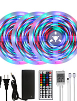 cheap -MASHANG 15m 3x5M Flexible LED Light Strips Light Sets RGB Strip Lights 3510 LEDs 2835 SMD 10mm 1 set RGB+White Christmas New Year's Party Decorative Self-adhesive 100-240 V