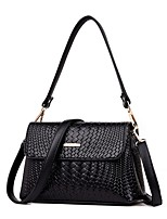 cheap -Women's Zipper / Chain PU Leather / Polyester Crossbody Bag Leather Bag Solid Color Wine / Black / Purple
