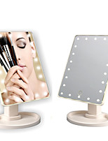 cheap -22 Led Lights Touch Screen Makeup Mirror Bright Adjustable Usb Use 360 Convenient Rotating Mirror