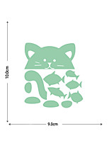 cheap -Luminous Stickers Cats And Small Fish Home Background Decoration Can Be Freely Pasted And Removable Stickers