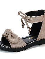 cheap -Girls' Roman Shoes PU Sandals Little Kids(4-7ys) / Big Kids(7years +) Bowknot Black / Pink / Gold Summer
