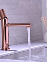 cheap -Brass Basin Faucet Balcony Hot and Cold Rose Gold Washbasin Basin Faucet