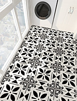 cheap -PVC antiskid twill printing four leaf grass ground paste bathroom bedroom living room DIY floor paste