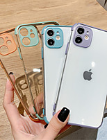 cheap -Crystal Clear Soft Silicone Phone Back Cover Cases For iPhone 11 Pro Max SE 2020 11 11Pro X XR XS Max 7Plus 7 8  8 Plus Full Camera Lens Protection