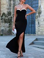 cheap -Mermaid / Trumpet Elegant Vintage Prom Formal Evening Dress Strapless Sleeveless Floor Length Spandex with Split 2020