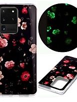 cheap -Case For Samsung Galaxy S20 S20 Plus S20 Ultra Glow in the Dark Pattern Back Cover Rose TPU for Galaxy A21 A11 A01 A70E A51 A71