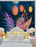 cheap -Home Decoration Custom self-adhesive mural wallpaper abstract butterfly children cartoon style suitable for bedroom children's room