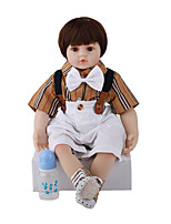 cheap -FeelWind 24 inch Reborn Doll Baby & Toddler Toy Reborn Toddler Doll Baby Boy Gift Cute Lovely Parent-Child Interaction Tipped and Sealed Nails 3/4 Silicone Limbs and Cotton Filled Body LV079 with